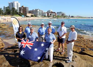 Photo of Cronulla Rotary Club Members at Cronulla Beach - Sutherland Shire Community Group of the Year 2017