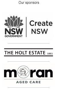 Hazelhurst sponsor list, Arts NSW, Holt Estate, Moran Aged Care