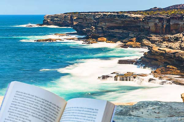 reading at Cape Solander, Kurnell