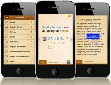 Mango languages app on iPhone
