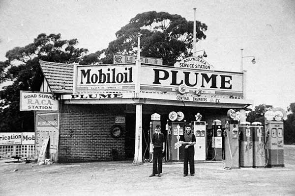 Bill Bullman's Garage (Maud's brother), corner of Princes Highway and Kingsway, Gymea, c1939