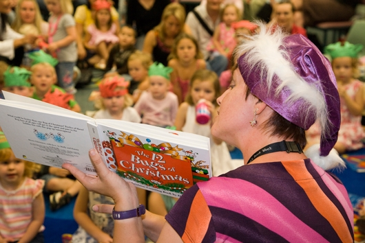Christmas storytime at the library