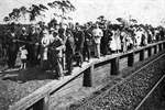 Opening of the new platform at Engadine Railway Station, 1920