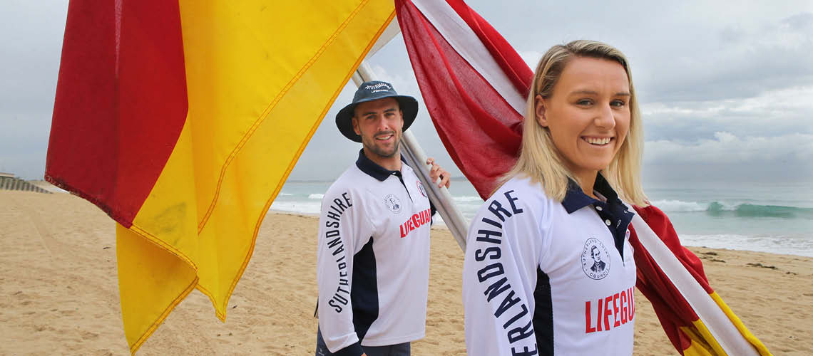 Male and Female Lifeguard at North Cronulla Beach