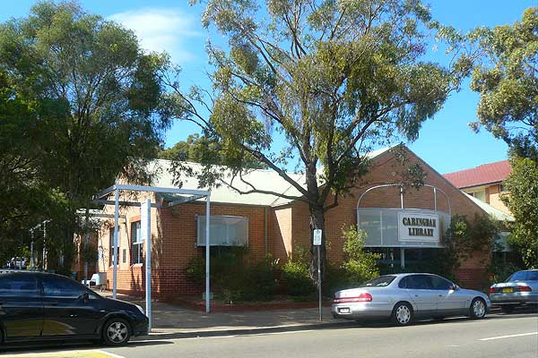 View of Caringbah library from the street